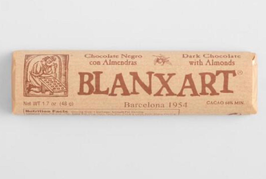 Blanxart Dark Chocolate With Almonds Bar