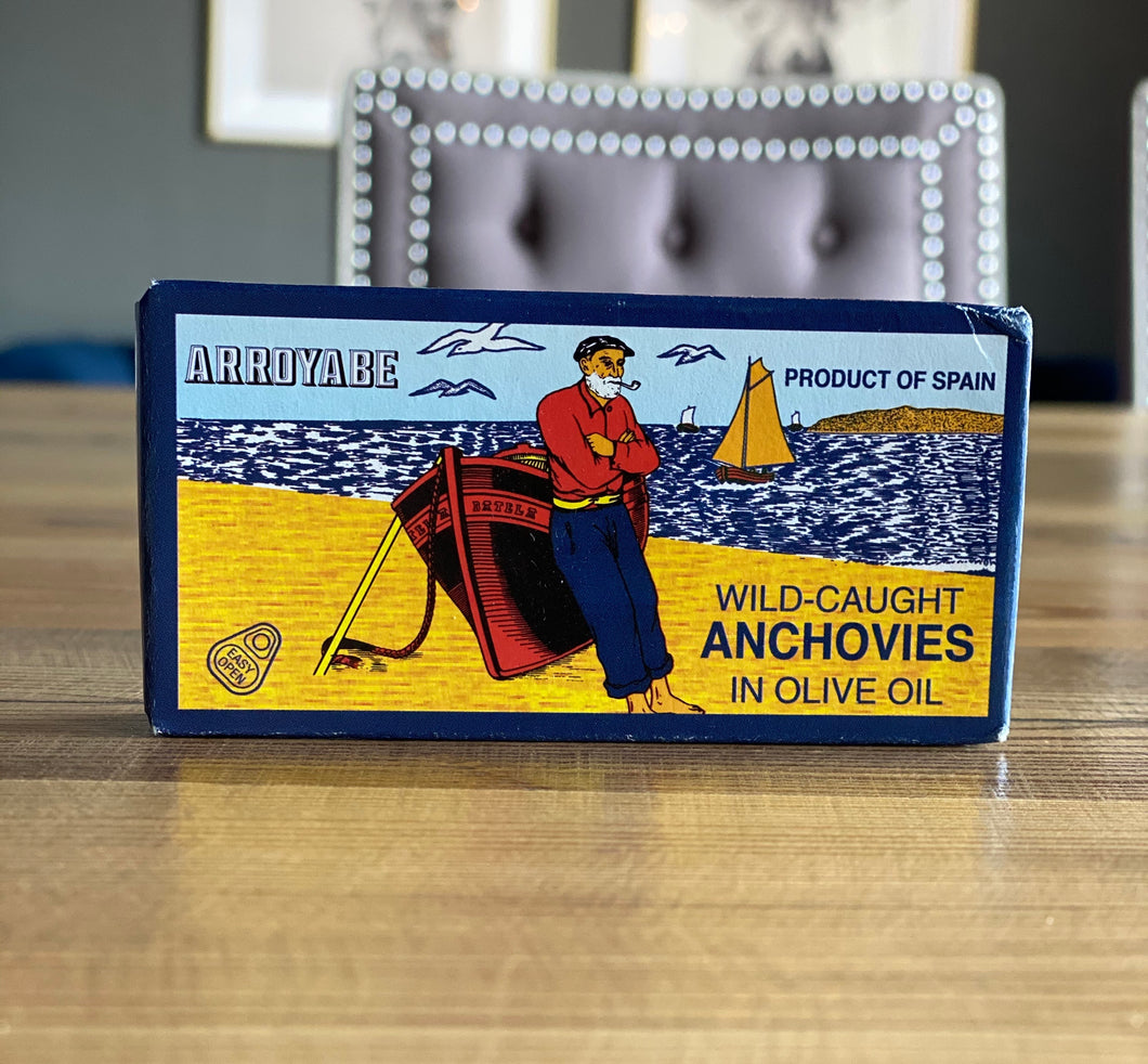 Arroyabe Wild-Caught Anchovies in Olive Oil