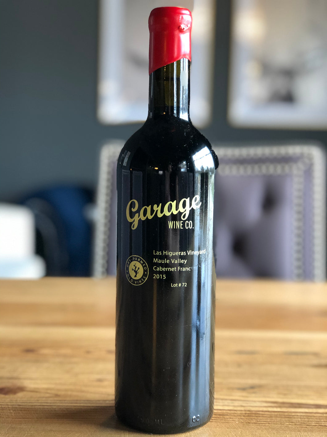 Garage Wine Co. Las Higueras Vineyard 2016 Cabernet Franc Lot #82