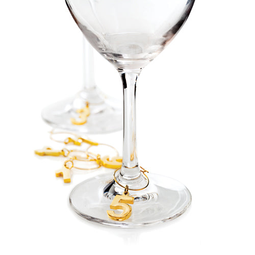 Wine Charms Gold