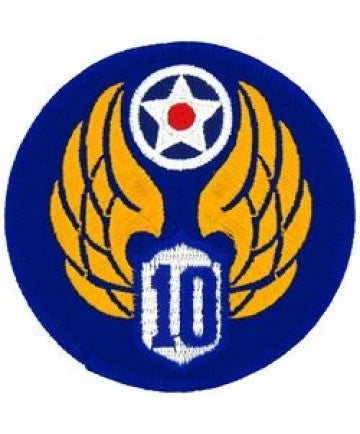"10th Air Force 3"" round patch"