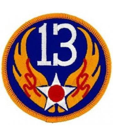 "13th Air Force 3"" Round patch"