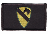 1st Cavalry Velcro Patch with black blackground