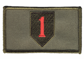 1st Infantry Patch in OD Green