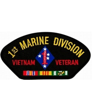 1st Marine Division Vietnam Veteran with Ribbons