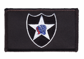 2nd Infantry Division Velcro Patch Black Background