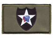 2nd Infantry Division Velcro OD Green