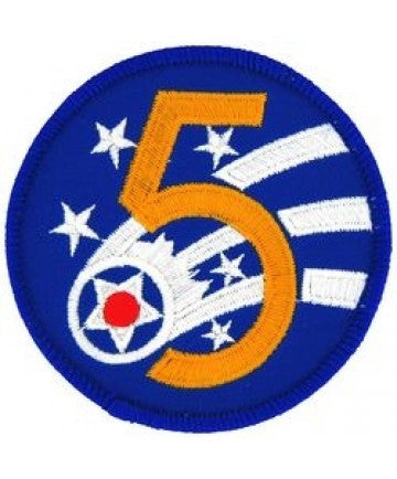 "5th Air Fore 3"" Round Patch"