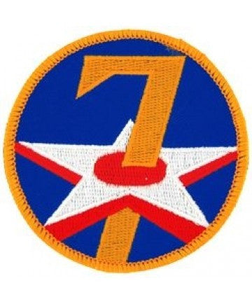 "7th Air Force 3"" Round Patch"