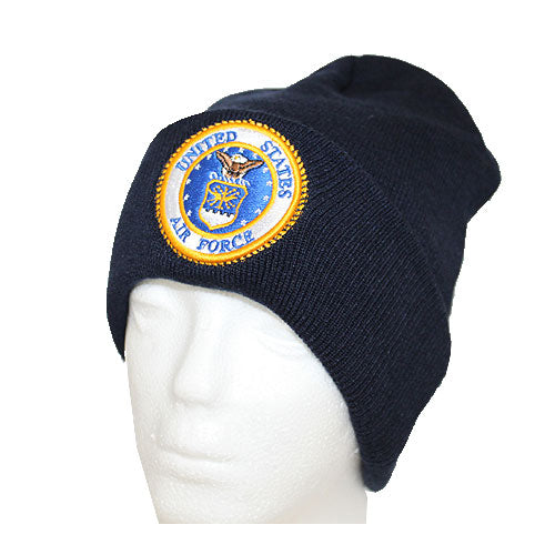 Air Force Blue Cuffed Beanie