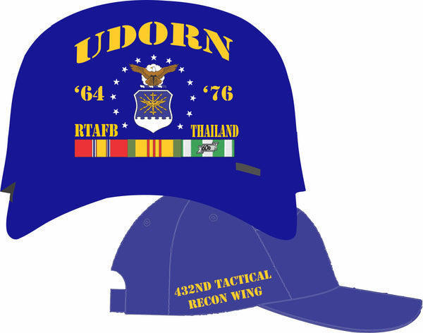 Air Force Thailand UDorn 432nd Tac Recon Wing Cap