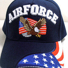 Air Force with Eagle and Flag