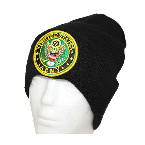 US Army with Round Logo Cuffed Beanie
