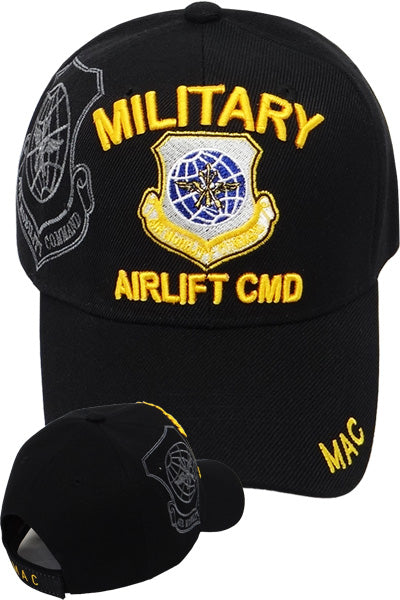 Military Airlift CMD Cap in Black