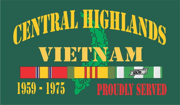 Central Highlands Vietnam Velcro Patch