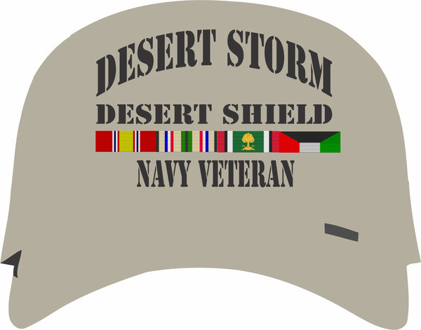 Desert Storm, Desert Shield Navy Veteran Tan Cap