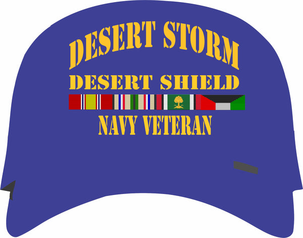 Desert Storm, Desert Shield Navy Veteran Blue Cap
