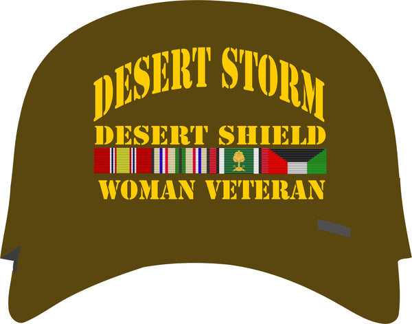 Desert Storm, Desert Shield OD Green Woman Veteran Cap