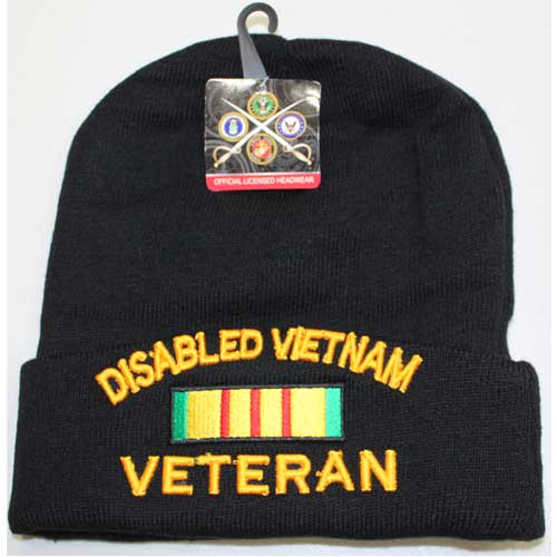 Disabled Vietnam Veteran Cuffed Beanie