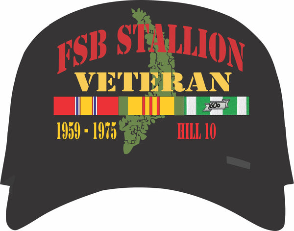 Fire Support Base Stallion Hill 10 Vietnam Veteran Cap