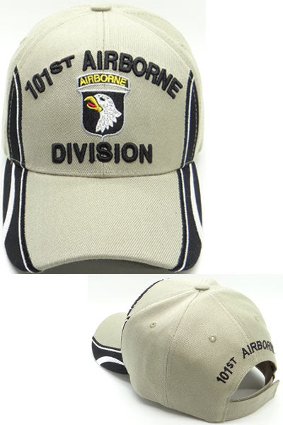 101st Airborne Division with Racing Stripes on cap