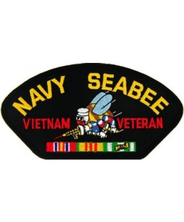 Navy Seabee Vietnam Veteran Patch with ribbons