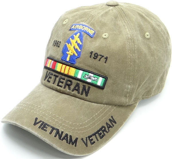 Army Special Forces Vietnam Veteran Distressed Tan