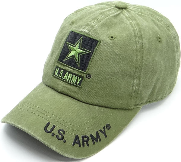 US Army with Star OD Green