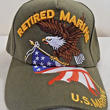 Retired Marine with Eagle & Flag
