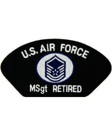 Air Force Master Sergeant Retired Patch