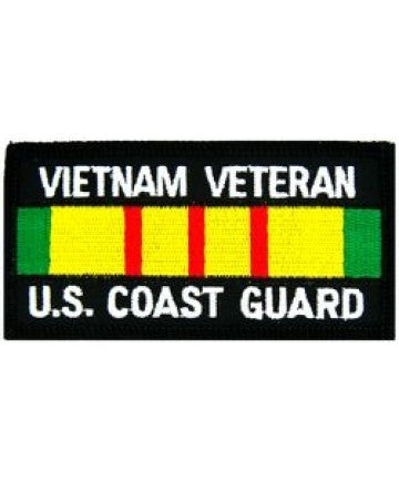 US Coast Guard Vietnam Veteran Patch with Service Ribbon