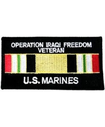 US Marine Corps Iraiqi Freedom Veteran Square Patch