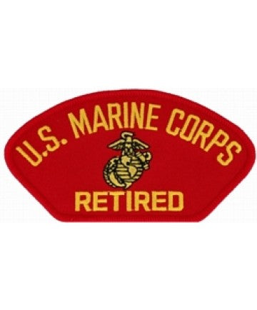 US Marine Corps Retired Insignia Red Patch