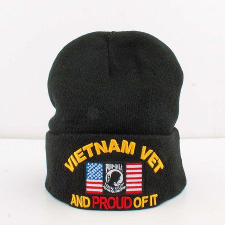Vietnam Veteran and Proud Of It Cuffed Beanie