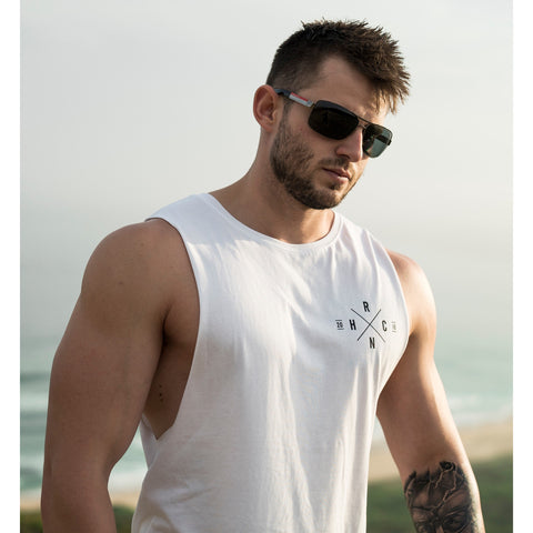 Hurricane Muscle Tank (White)