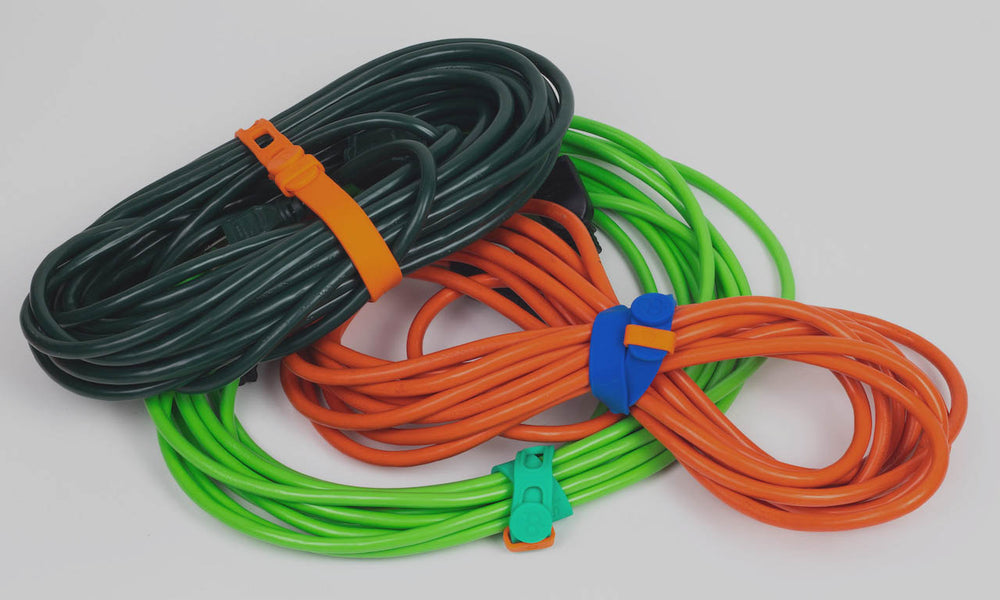 Packbands storage straps used to manage extension cords