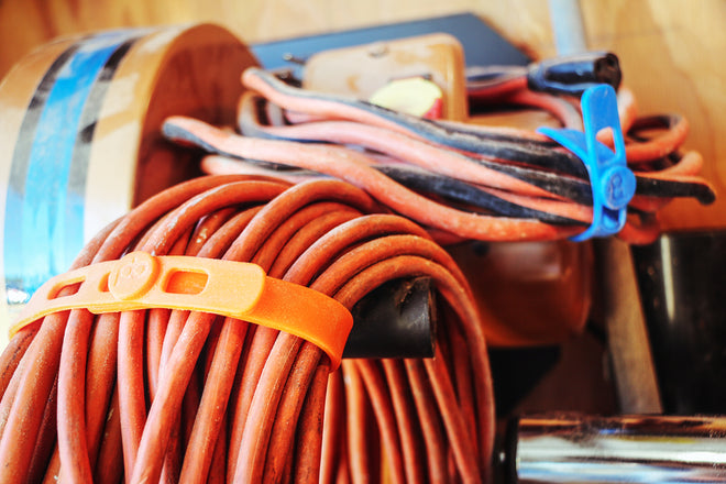 Packbands secure cords, hoses, ropes and tools in the workshop, garage or office