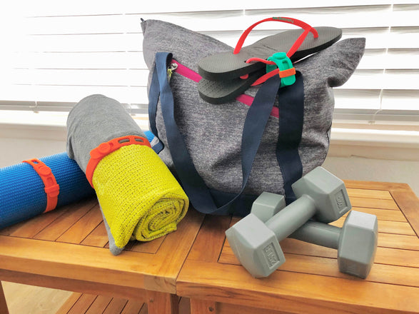 Packbands hold fitness equipment, outdoor and adventure equipment to keep your sports gear organized