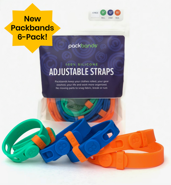 The Packbands 6-pack provides more options for garage storage, home and office organization, and for securing outdoor gear.