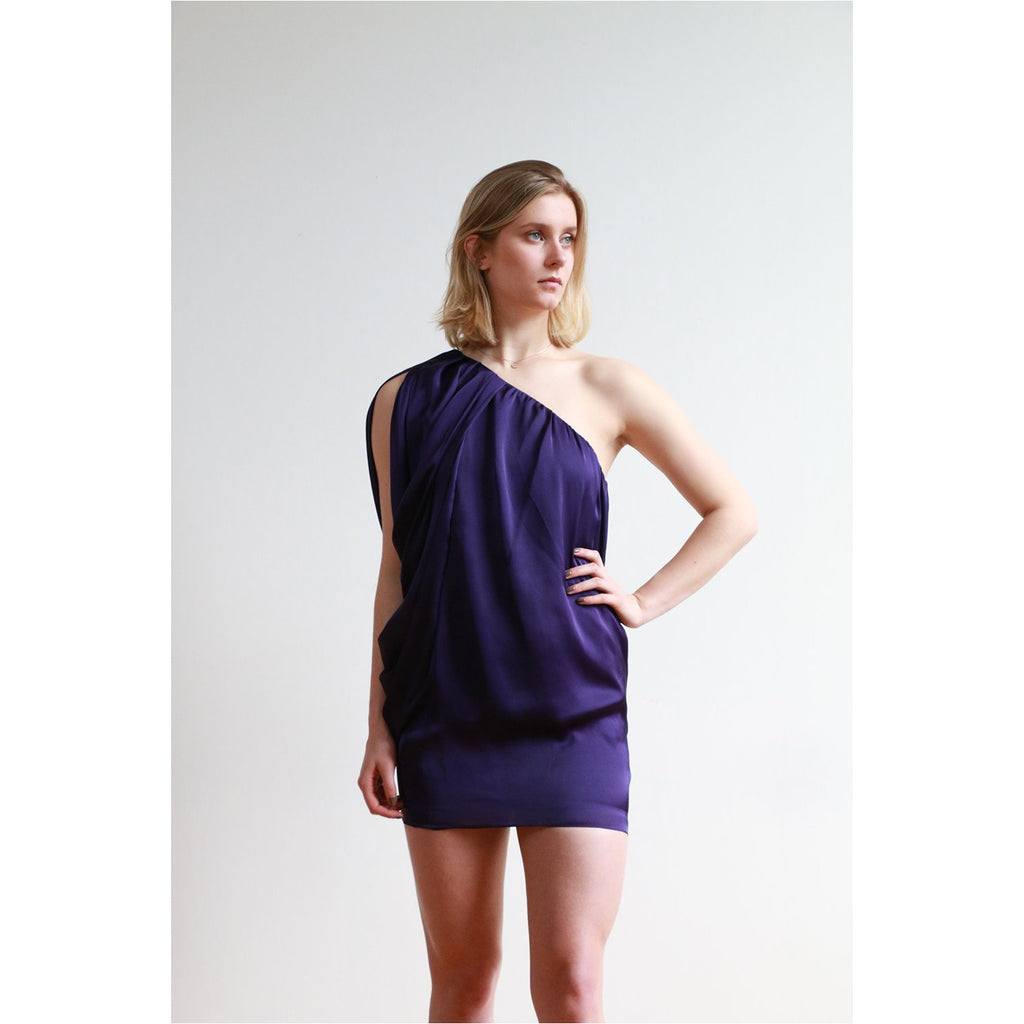 Aidan Mattox | one-shoulder shift dress