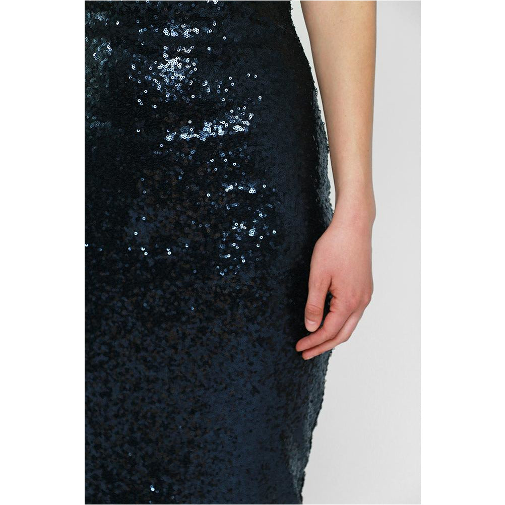 Luxe Collection | Off-Shoulder Sequin Midi Dress