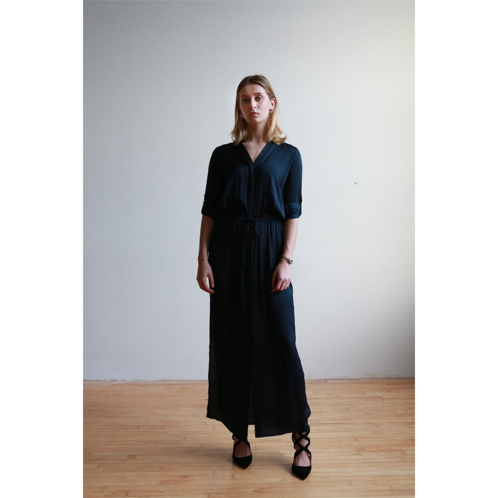 Vince | maxi button down shirt dress