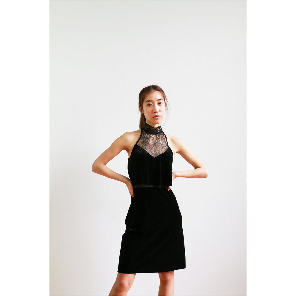 Design Lab | Velvet Layered Dress