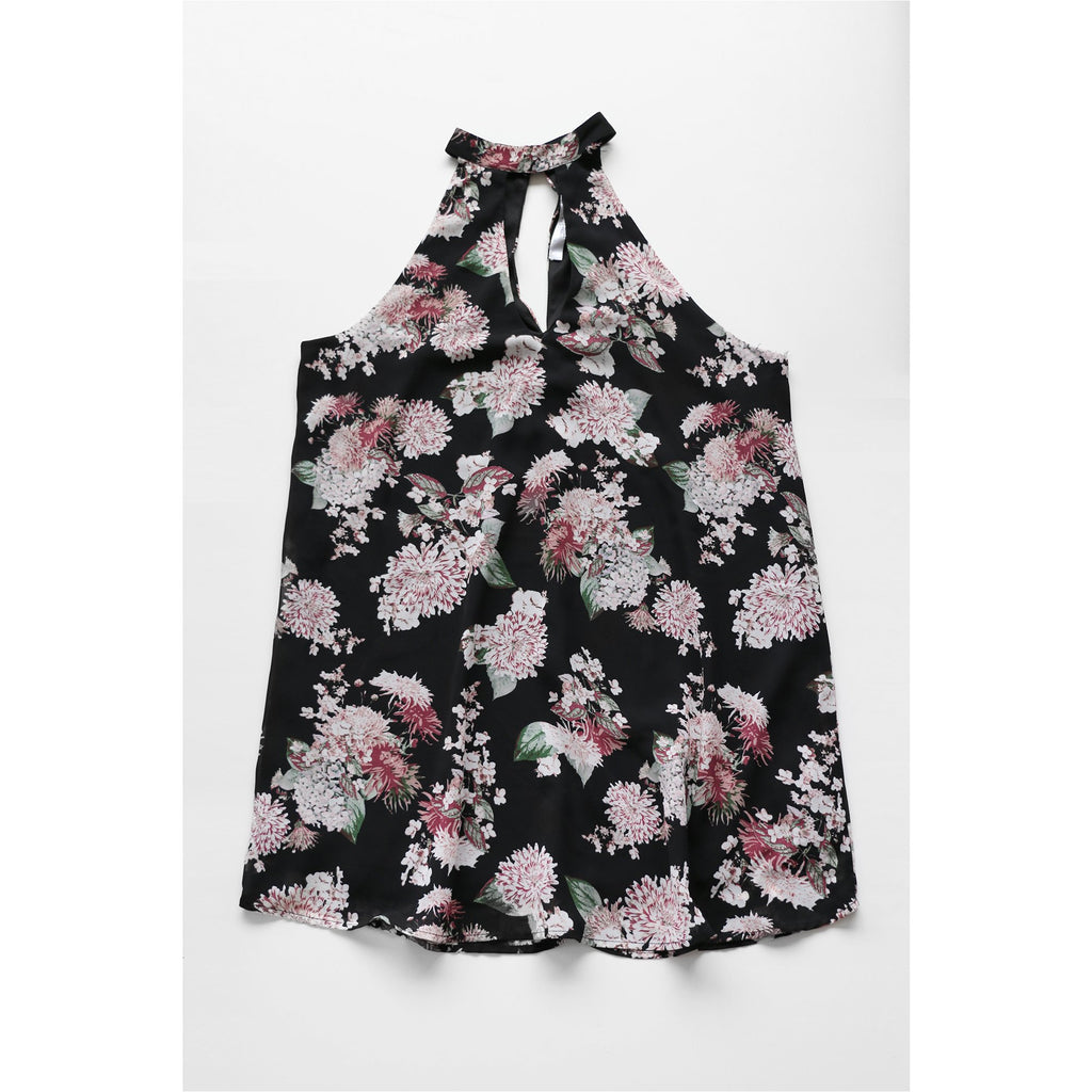 STREETWEAR SOCIETY | Floral Halter Neck Dress