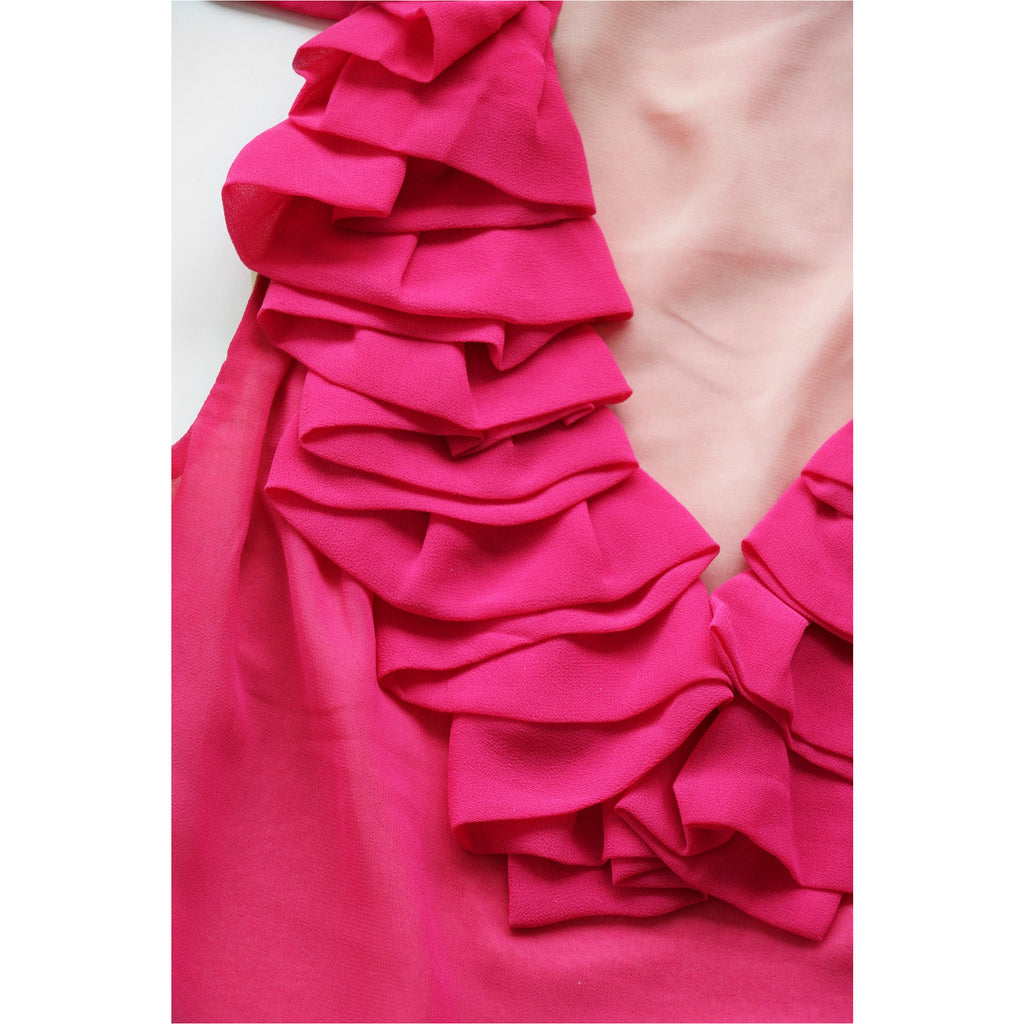 AKIRA | Pink Ruffle Sleeveless Top - Fresh Fashion Library