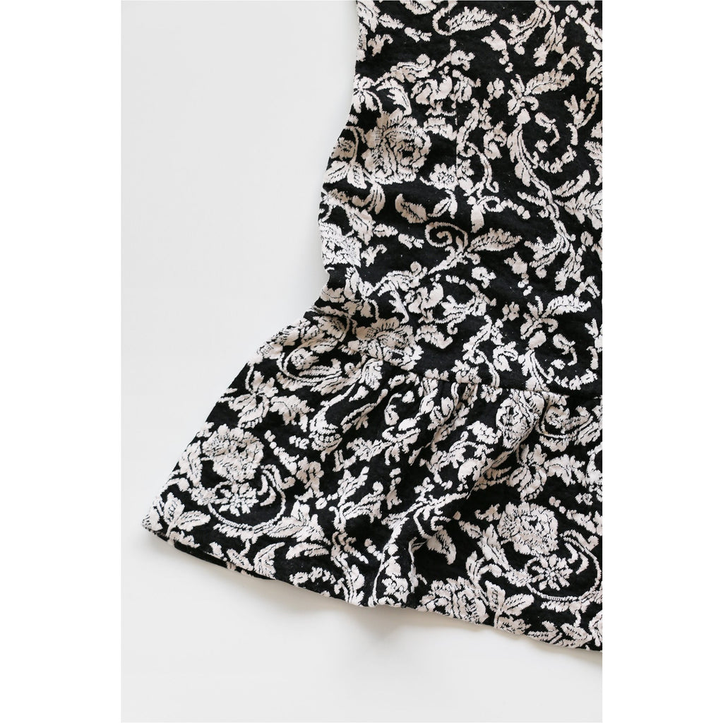 DV | Black Floral Jacquard Dress