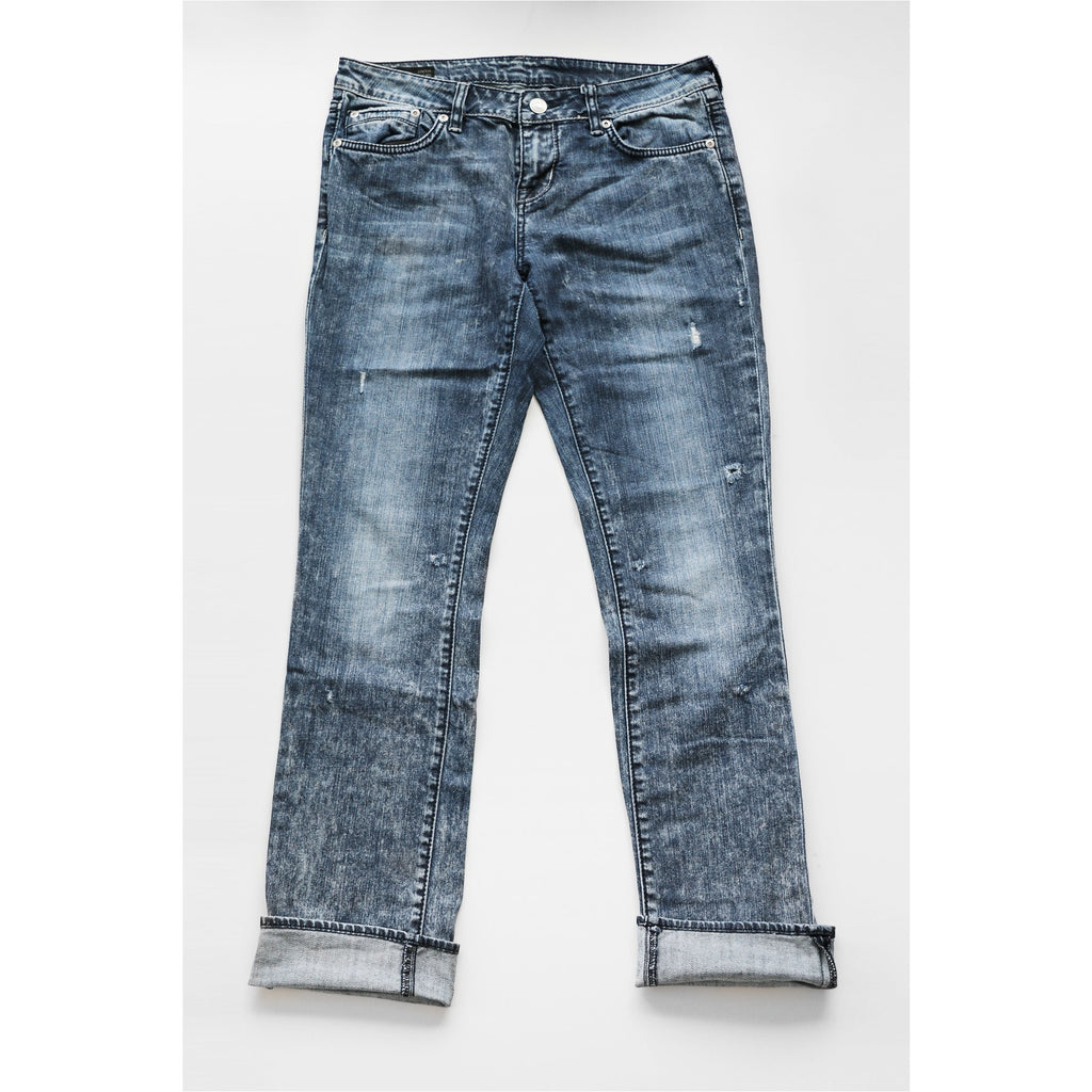 BUFFALO | Mid Rise Acid Wash Straight Jeans