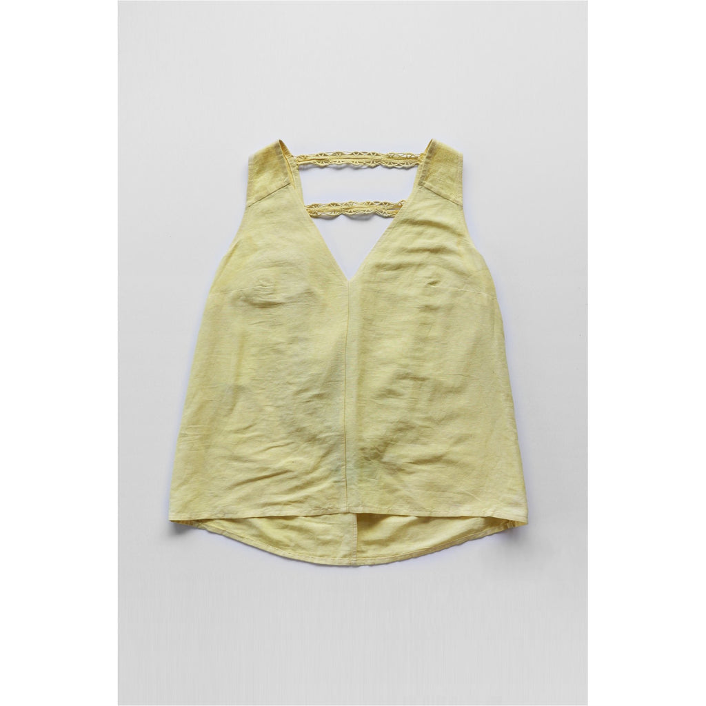 PEGGY SUE COLLECTION |  Yellow Draped Back Top
