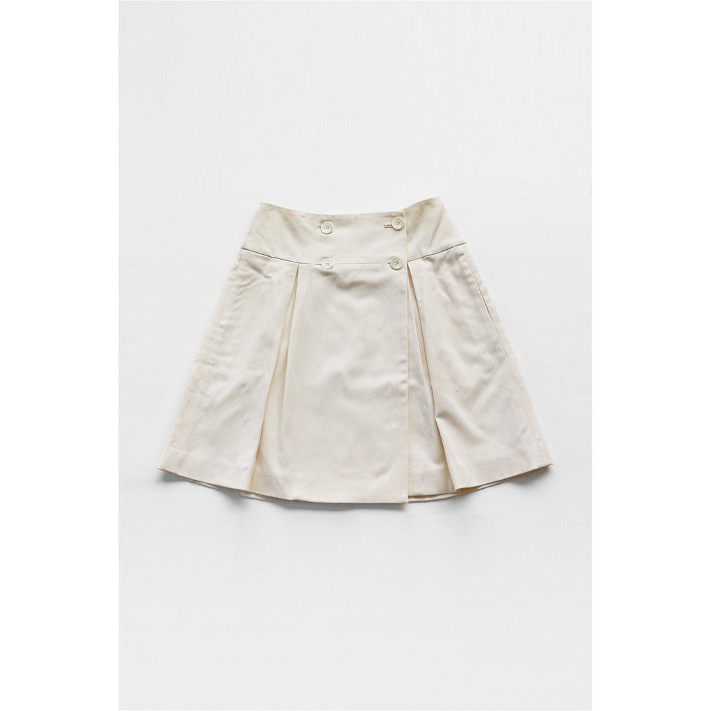 CLUB MONACO | Off-white Button Front Skirt