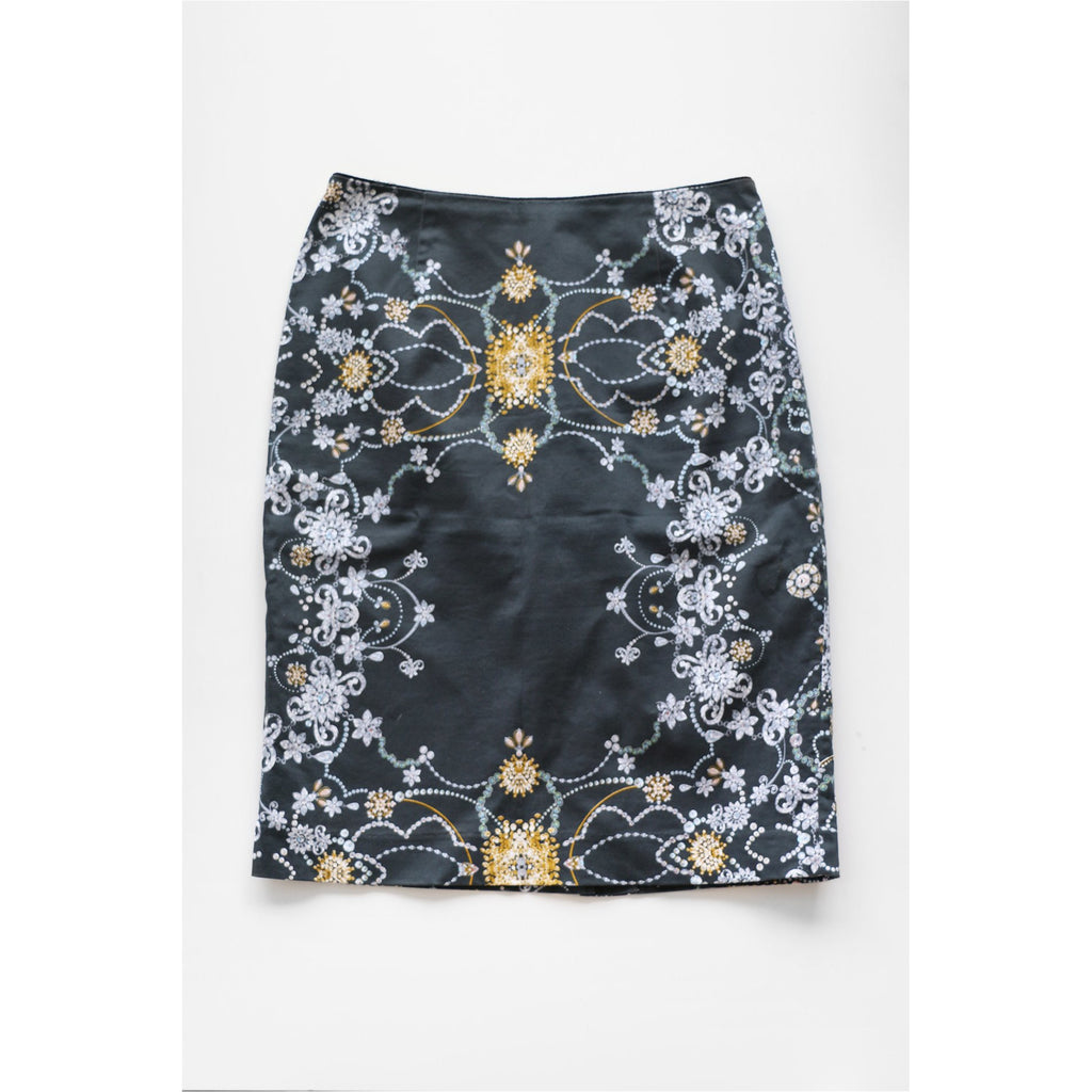 MARIO SERRANI | Jewelry Print Pencil Skirt - Fresh Fashion Library